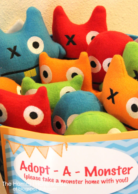 Adopt a monster party favor | cupcakes and wild ponies