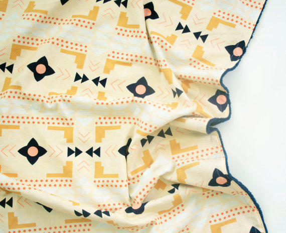 Tribal baby blanket from FoxHillBaby - cupcakesandwildponies