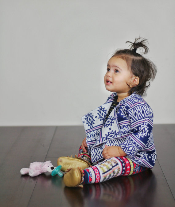 Sweet baby tribal cardigan from MadeByJeniffer - cupcakesandwildponies