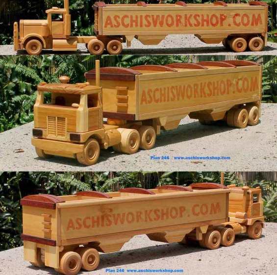 Wooden Semi Truck #woodentoys - cupcakesandwildponies