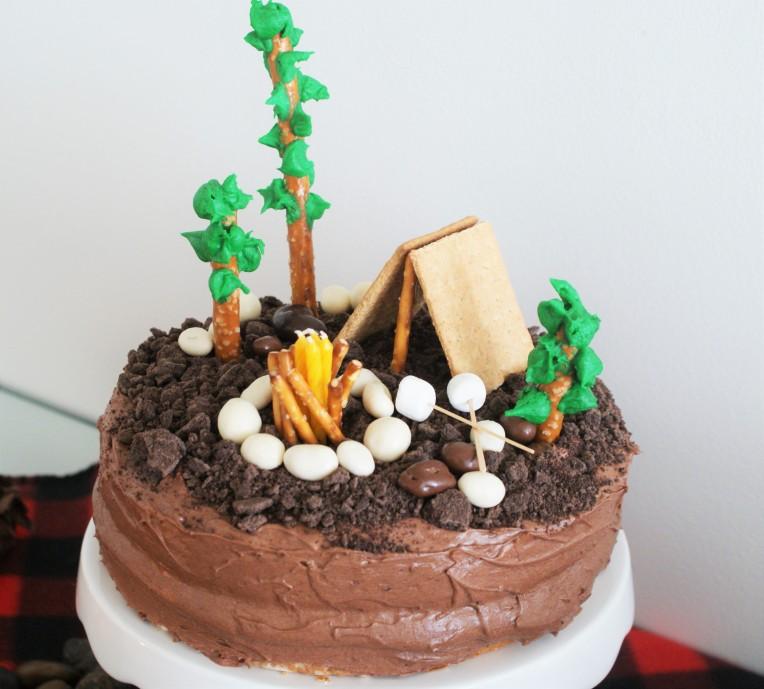 #Camping #cake #birthday #Partytheme -cupcakesandwildponies blog