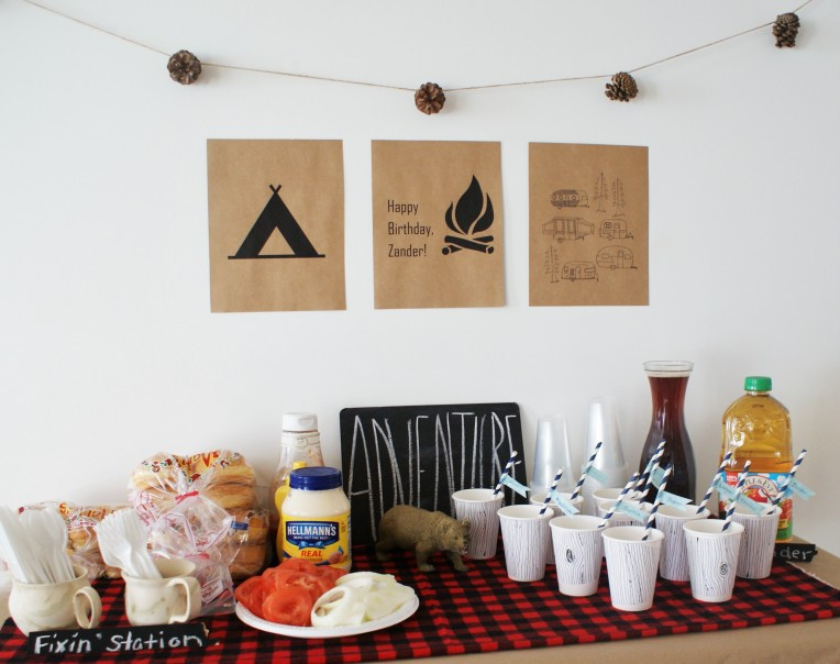 #camping birthday party theme - cupcakesandwildponies blog