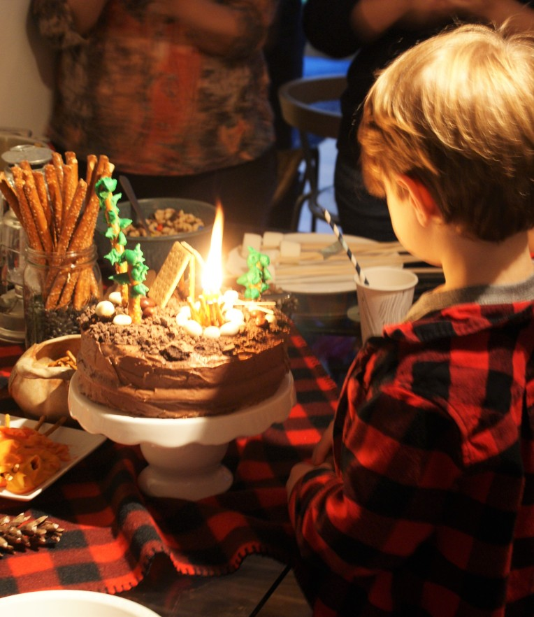 4th #camping birthday party - cupcakesandwildponies blog