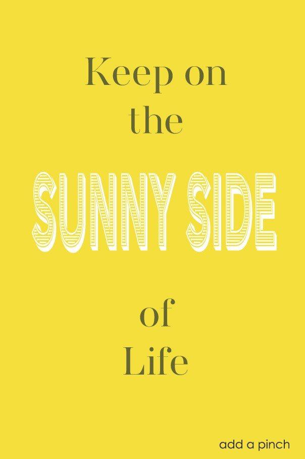 Keep on the sunny side of life #yellow #colorinspiration #sunnyside