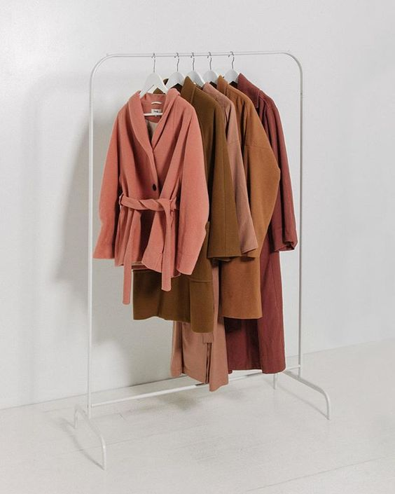 Hanging Coats #rust #minimalist