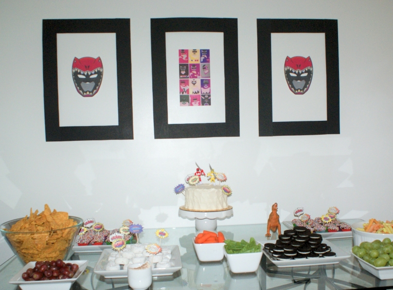 Power Ranger Birthday Party #powerrangers #birthdayparty #kidsparty #5thbirthdayparty #dinocharge