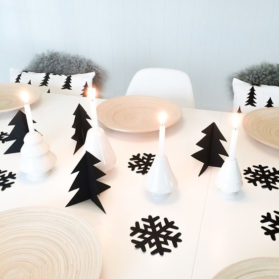 Black and White Christmas #blackandwhite #christmas #decor #minimal #scandinavian #design