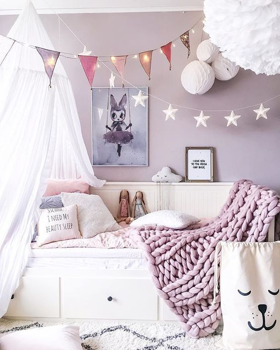April color of the month: Lively Lavender #colorinspiration #designinspiration #lavender #purple #homedecor #girlsroom