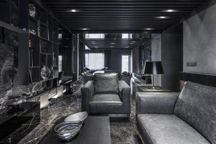 Monochrome gray interior design #interiordesign #charcoal #gray #modern #minimal