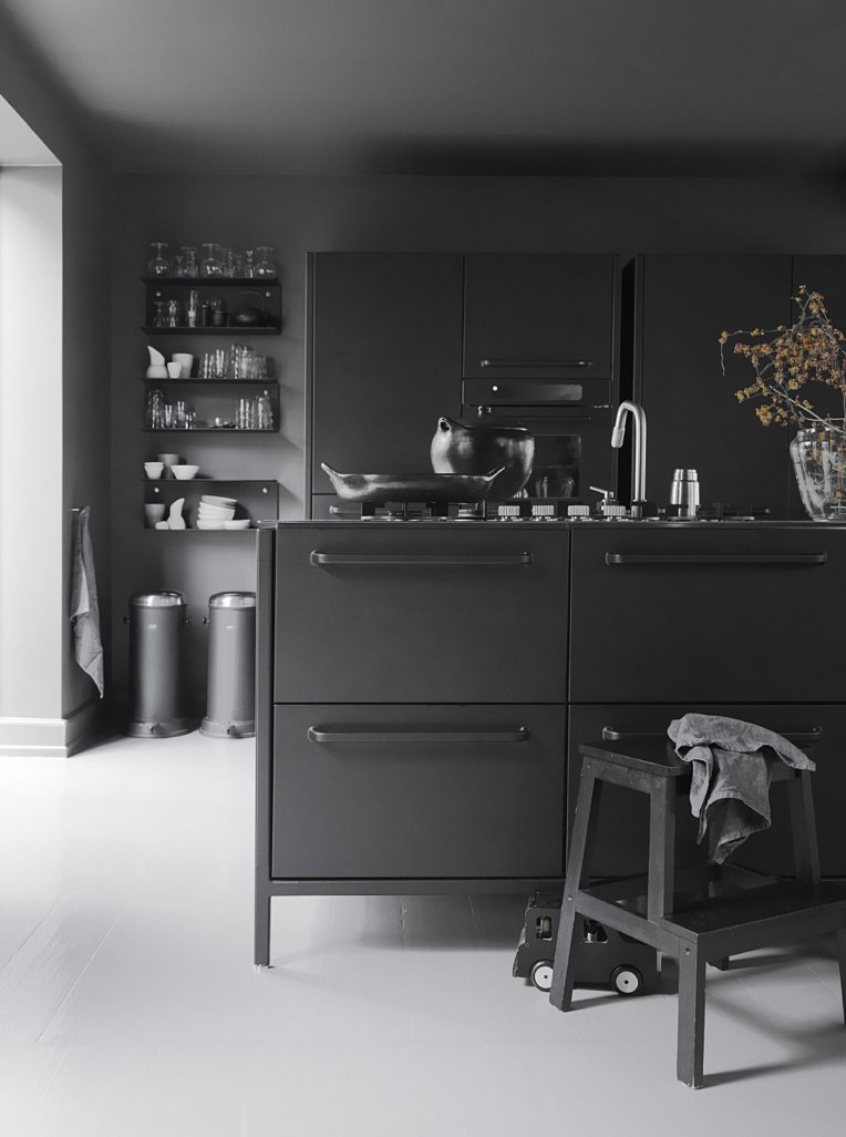 Monochromatic Kitchen #interiordesign #modern #minimalism