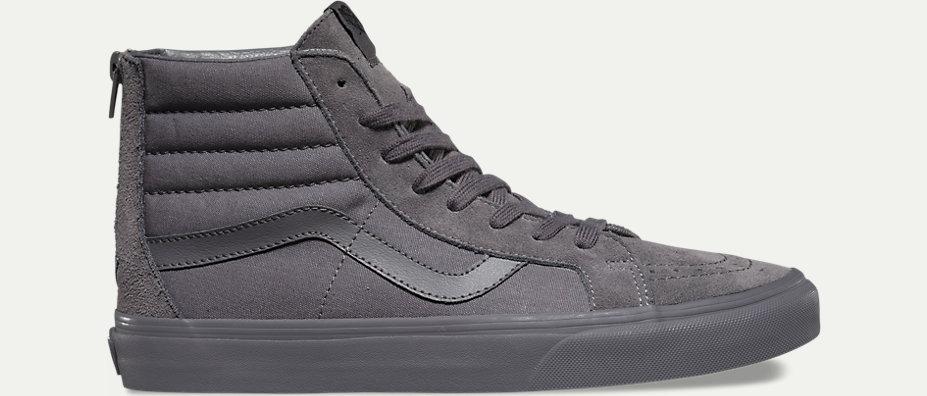 monochrome gray shoe