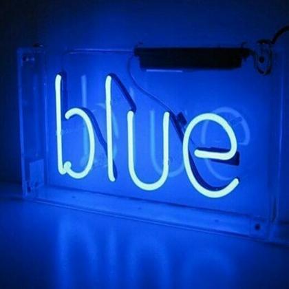 Electric Blue Neon Sign #neon #electricblue #colorofthemonth #blue #colorinspiration #designinspiration #lovestruckdesignhouse