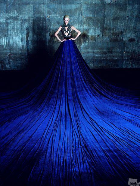 Couture blue dress #electricblue #colorofthemonth #blue #colorinspiration #designinspiration #lovestruckdesignhouse