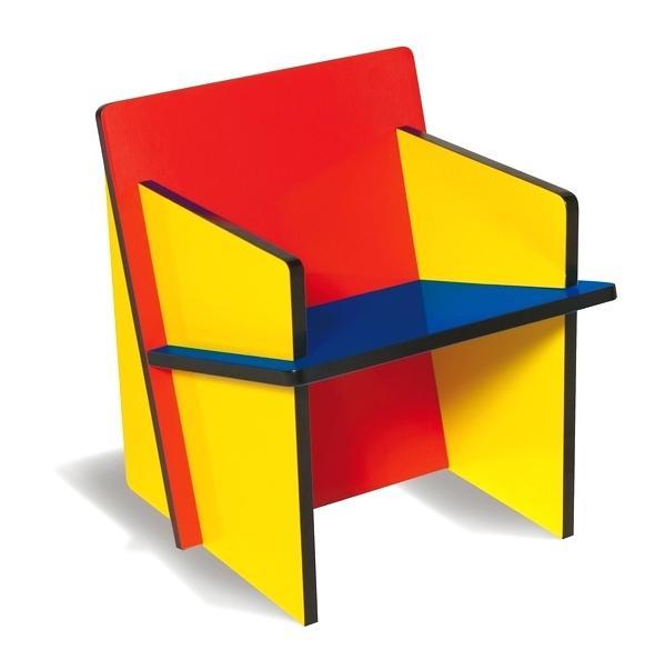 Bauhaus color-block chair