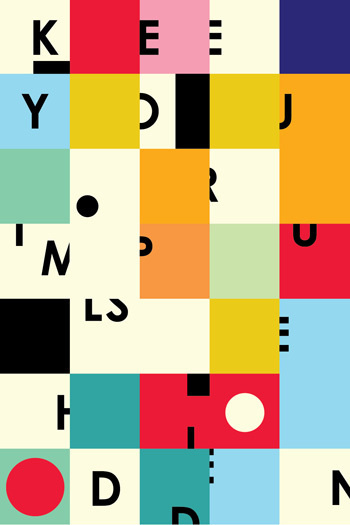 Color block typography poster