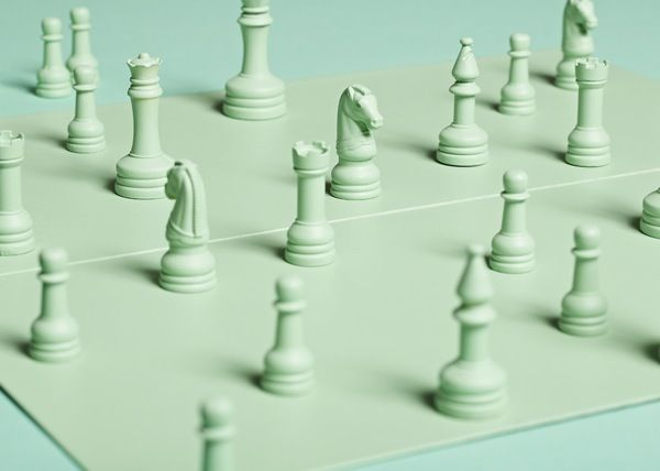 green chess board