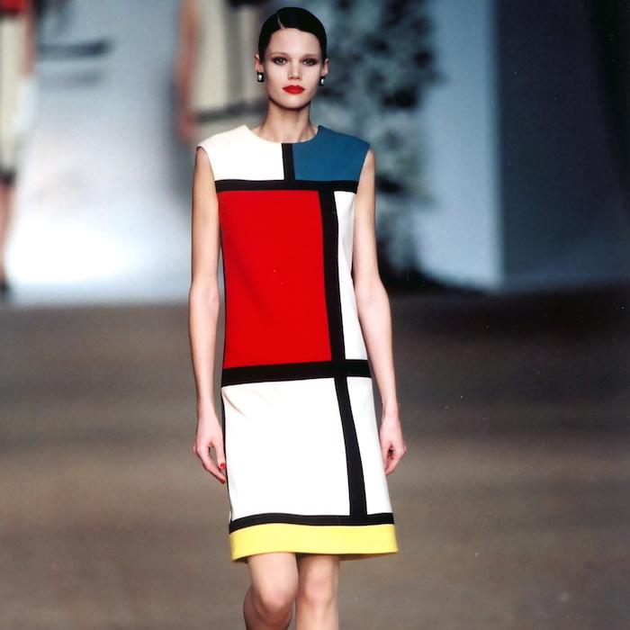 Piet color block dress