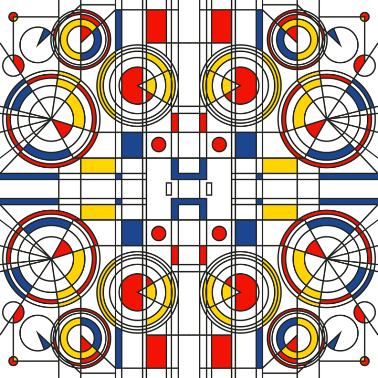 Bauhaus original pattern design