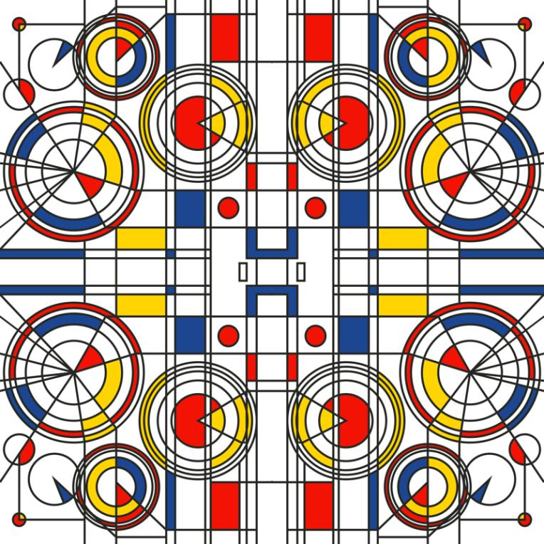 Bauhaus original pattern design